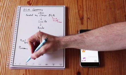 Caderno reutilizável envia suas anotações para a nuvem