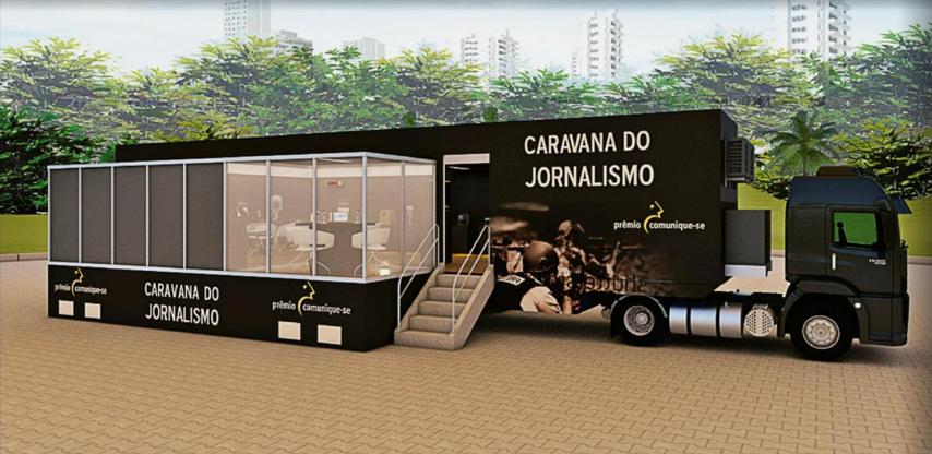 "Projeto da carreta personalizada ""Carava do Jornalismo"""