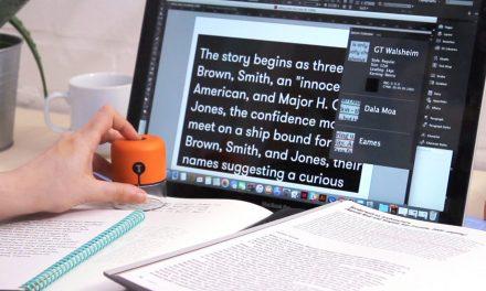 Designer cria dispositivo de bolso que identifica fontes e cores