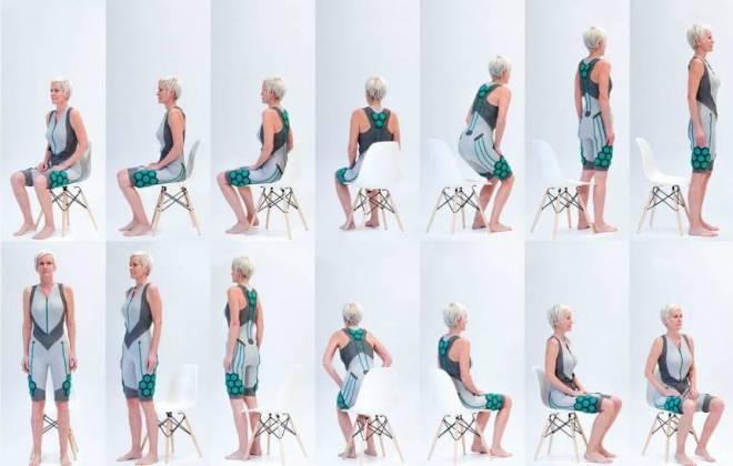 """Empresa cria roupa com """"músculos elétricos"""" para idosos"""