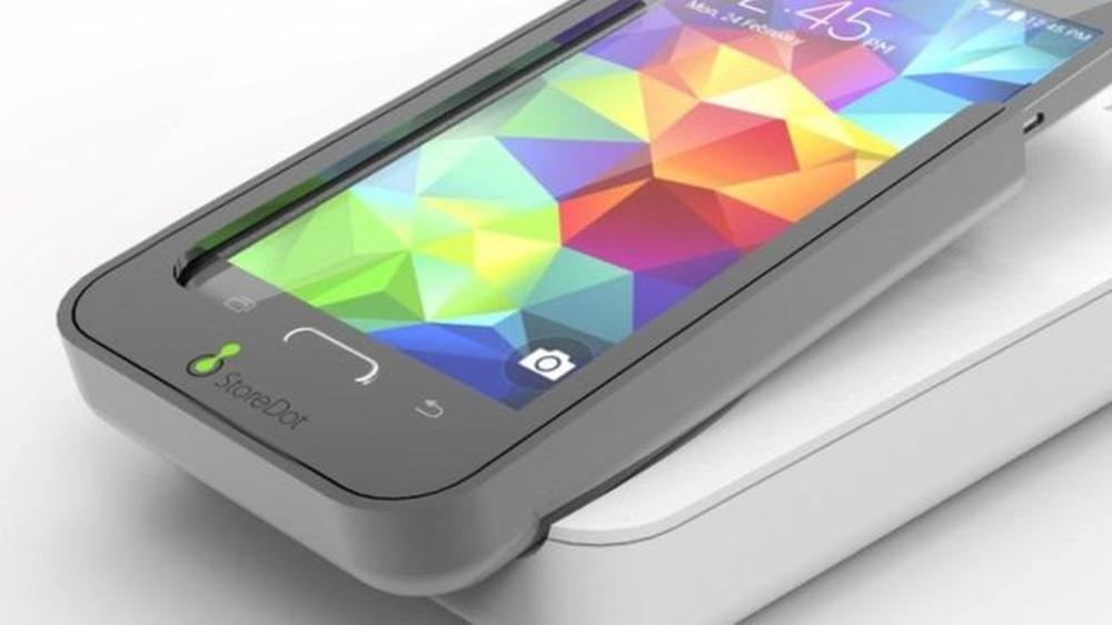 Smartphones mira bateria que carrega em 5 minutos para 2018