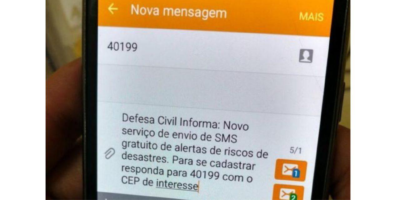Envio de alertas da Defesa Civil por SMS avança no Brasil