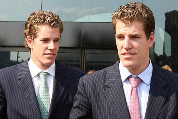 Bitcoin torna irmãos Winklevoss milionários