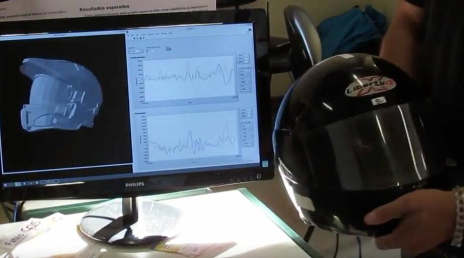 Estudante desenvolve capacete que aciona socorro sozinho em caso de acidente