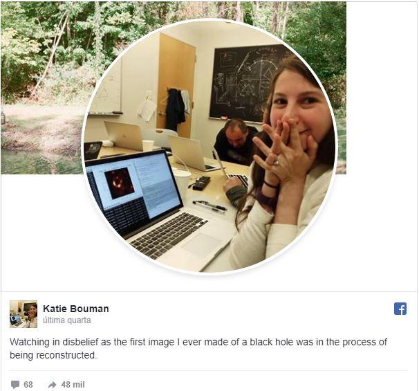 Conheça Katie Bouman, criadora de algoritmo para foto do buraco negro